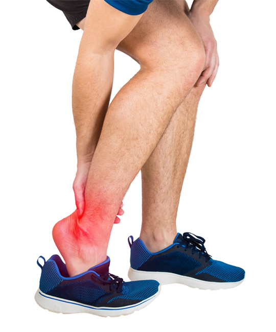 athlete experiencing joint pain in ankle