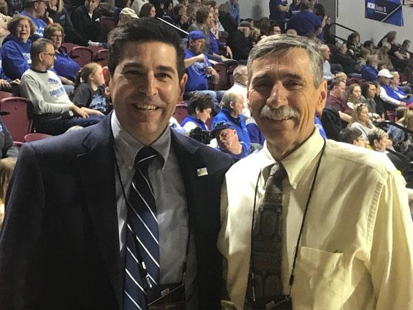 Dr. Bolin and J Buriak at NCAA Championships